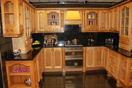 kitchen in solid ash on sale